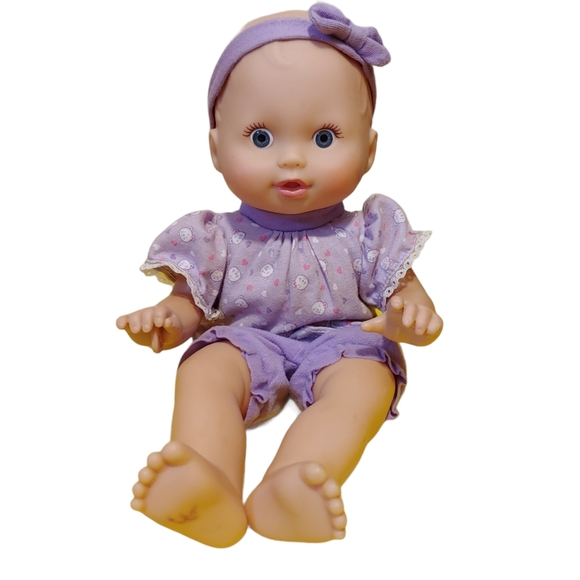 Fisher price peekaboo baby doll purple outfit